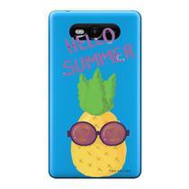 Capa Transparente Personalizada para Nokia Lumia N820 Hello Summer - TP322 -
