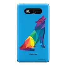 Capa Transparente Personalizada para Nokia Lumia N820 Lobo - TP236 -