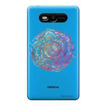Capa Transparente Personalizada para Nokia Lumia N820 Mandala - TP256 -