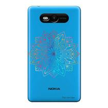 Capa Transparente Personalizada para Nokia Lumia N820 Mandala - TP262 -