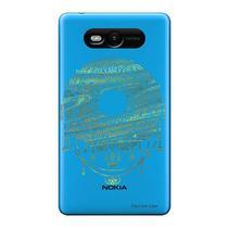 Capa Transparente Personalizada para Nokia Lumia N820 Mandala - TP306 -