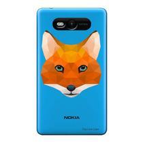 Capa Transparente Personalizada para Nokia Lumia N820 Raposa - TP238 -