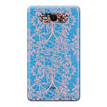 Capa Transparente Personalizada para Nokia Lumia N820 Renda Rosa - TP284 -