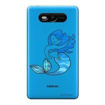 Capa Transparente Personalizada para Nokia Lumia N820 Sereia - TP301 -