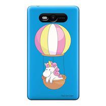 Capa Transparente Personalizada para Nokia Lumia N820 Unicórnio no Balão - TP308 -