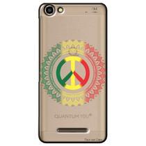 Capa Transparente Personalizada para Quantum You L - Penas - TP269 -