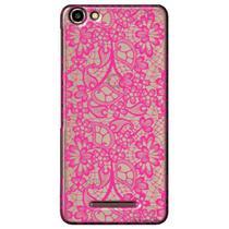 Capa Transparente Personalizada para Quantum You L - Renda Pink - TP282 -