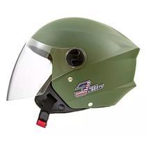 Capacete Aberto de Moto Pro Tork New Liberty Three Elite Vintage Green Tam 56 -