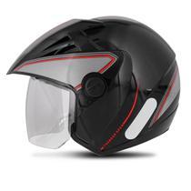 Capacete Aberto EBF Thunder Open Classic Preto e Vermelho - Ebf capacetes