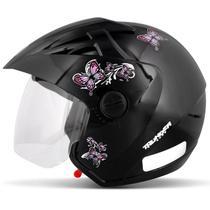 Capacete Aberto EBF Thunder Open New Summer Preto Brilhante Moto - Ebf capacetes