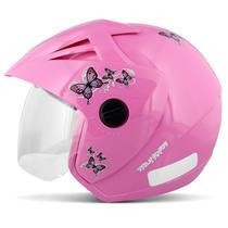 Capacete Aberto EBF Thunder Open New Summer Rosa Moto - Ebf capacetes