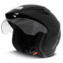 Capacete Aberto EBF Thunder Open Solid Preto Fosco - Ebf capacetes