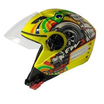 Capacete Aberto Fw3 X Open Turbo Amarelo -