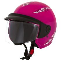 Capacete Aberto Mixs Up For Girls 56 Engate Rápido Rosa -