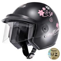 Capacete Aberto Pro Tork Liberty Three For Girls Preto -