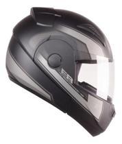 Capacete Articulado de Moto Ebf E8 Drift Prata Fosco (Robocop) Tam: 60 -