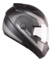 Capacete Articulado de Moto Ebf E8 Drift Prata Fosco (Robocop) Tam: 61 -