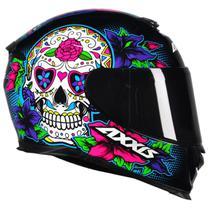 Capacete Axxis Caveira Eagle Skull Esportivo Moto Lançamento Feminino Masculino -