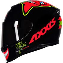 Capacete Axxis Celebrity Marianny Gloss Black/Red -