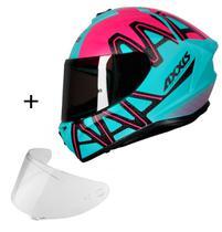 Capacete Axxis Draken Dekers + Viseira fumê Masculino Feminino Esportivo Moto -