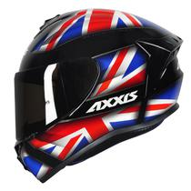 Capacete Axxis Draken Uk Gloss Black/ Red/ Blue -
