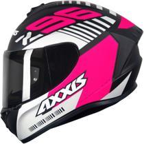 Capacete Axxis Draken Z96 Matt Black Pink White -