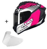 Capacete Axxis Draken Z96 + Viseira fumê Masculino Feminino Esportivo Moto -