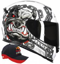 Capacete axxis eagle bull cyber white -