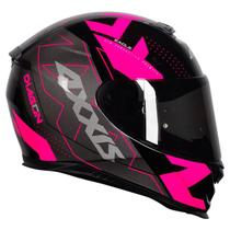 Capacete Axxis Eagle Diagon Black Pink -