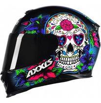Capacete Axxis Eagle Skull Preto Azul - Axxis Helmets