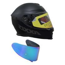 Capacete Axxis Eagle Solid Mono Matt Com Viseira Azul -