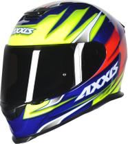 Capacete Axxis Eagle Speed Gloss - Azul/Amarelo -