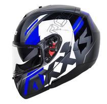 Capacete Axxis Escamoteável  Roc Sv C/ Óculos Azul 60/L -