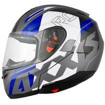 Capacete Axxis Roc SV Blow Cinza/Azul (Articulado) -