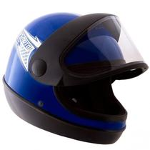 Capacete Azul Moto Automático Tipo Sanmarino Masculino 58/60 Pro Tork -