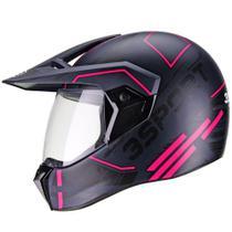 Capacete Bieffe 3 Sport Drax Estilo Cross Masculino Feminino Esportivo Moto -