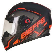 Capacete Bieffe B-12 Naked Preto Fosco/Vermelho -