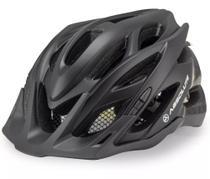 Capacete Bike Bicicleta Absolute Wild Preto Fosco Com Sinalizador Tamanho M/G 58-61 - Inmold