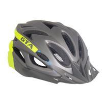 Capacete Bike MTB Com Led e Regulagem NX GTA Cinza Amarelo -