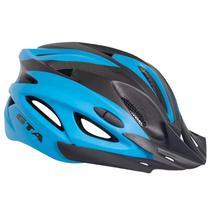 Capacete Bike MTB Com Led e Regulagem NX GTA Preto e Azul -