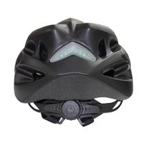 Capacete Bike MTB Com Led e Regulagem NX GTA Preto Fosco -