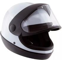 Capacete Branco Moto Automático Tipo Sanmarino Masculino 56/58/60 Pro Tork -