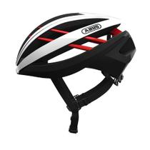 Capacete ciclismo abus aventor branco/vermelho/preto tam. m  54 - 58 cm -