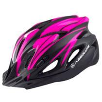 Capacete Ciclismo Feminino Absolute Nero Preto e Rosa com luz de led traseira M -