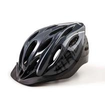Capacete Ciclismo MTB 2.0 G LED Traseiro 19 Entradas Ventilação Cinza Preto Atrio BI171 - Átrio