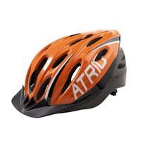 Capacete Ciclismo MTB 2.0 G LED Traseiro 19 Entradas Ventilação Laranja Preto Atrio BI173 -