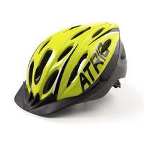 Capacete Ciclismo MTB 2.0 M com LED Traseiro 19 Entradas Ventilação Neon Preto Átrio BI168 - Atrio