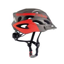 Capacete Ciclismo Ventilado Mountain Bike Speed Led G - (58-62) Laranja avermelhado / Cinza - Gta