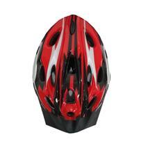7f3004109 Capacete Ciclista Adulto Regulagem Tamanho Bike Ciclismo - Vermelho