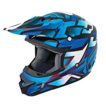 Capacete Cross Fly Kinetic Block Out Azul - Fly racing
